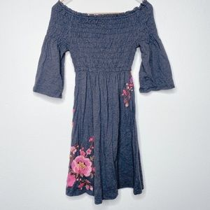 JOHNNY WAS Cotton Embroidered Dress Size S